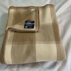 Lands'end by Pendleton Cream Beige Wool Blanket